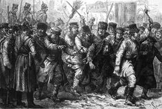 The 1881 pogroms and the 1882 May laws initiated a wave of Jewish emigration from Russia to the West. The pogroms also brought a bit of popularity for the Zionist movement.  Leon Pinsker was able to revitalize the Chovevei Tzion and the BILU movement was formed against the background of the pogroms.The pogroms of 1881 and 1882 will lead to a change in the Russian policy towards the Jews, with restrictive new laws.   The illustration depicts the violence of the pogrom.