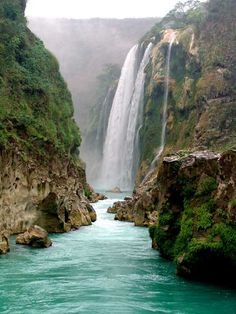 Cascada Tamul Huasteca Potosina, México Been there! absolutely breathtaking!