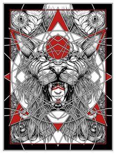 """""""Felidae"""" Art Print by Randy Ortiz"""