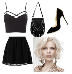 A fashion look from April 2016 featuring plus size shirts, mini skirts and black stilettos. Browse and shop related looks. Even And Odd, Black Stilettos, Plus Size Shirts, Charlotte Russe, Mini Skirts, Fashion Looks, Crop Tops, Black And White, Polyvore