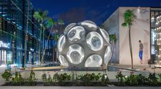 The Miami Design District is a neighborhood dedicated to innovative fashion, design, architecture and dining experiences. The vision for a rejuvenated Design District was codified in an urban master. Interactive Installation, Installation Art, Art Installations, Propaganda E Marketing, Buckminster Fuller, Sou Fujimoto, Florida, Geodesic Dome, Beach Signs
