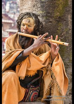 Sadhu flutist Kathmandu, Nepal