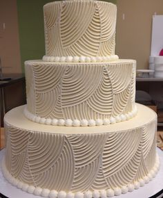 Art deco classic style cake. White Flower Cake Shoppe