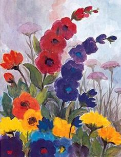 The Garden by Emil Nolde (artistas pinturas) Emil Nolde, Watercolor Flowers, Watercolor Art, Degenerate Art, Garden Painting, Arte Floral, Anime Comics, Painting Inspiration, Flower Art