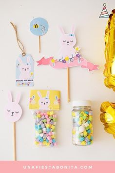 Cheap Baby Shower, Baby Shower Parties, Baby Shower Themes, Bunny Birthday, Girl Birthday Themes, Party In A Box, Party Kit, Handmade Shop, Etsy Handmade