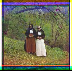 """""""Armenian women in customary dress""""      100 year old color photos from the Russian Empire.  Photo credit: Sergei Mikhailovich Prokudin-Gorskii.  Courtesy Library of Congress"""
