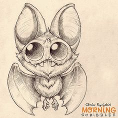 Bats are never not fun to draw! #morningscribbles | CHRIS RYNIAK | Flickr