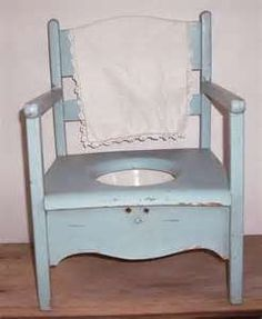 Image detail for -Little Vintage Potty Chair Shabby Blue by LittleVintageCottage