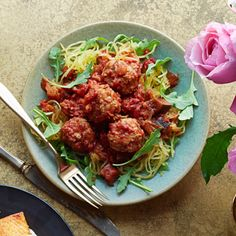 """Spaghetti"" and Meatballs #supercarb #healthyrecipes"
