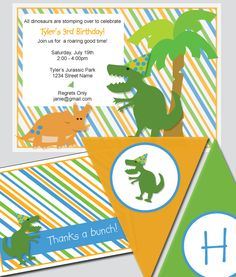 DINO MITE PARTY PACK free to download party printables from www