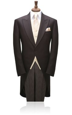 1 Button Brown Herringbone Morning Suit by Torre | My Tuxedo