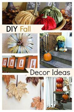 10 awesome DIY Fall decor ideas to get you ready for Fall.