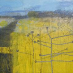 Maggie Matthews, Sunshine, mixed media on canvas 100x100cm. Available from Cornwall Contemporary for 2014 Easter Show. www.maggiematthews.co.uk