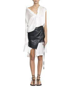 ANN DEMEULEMEESTER SILK SHIRT DRESS. #anndemeulemeester #cloth #