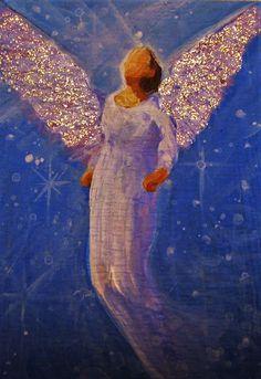Original Angel Painting Spiritual Healing Energy by Breten Bryden #BrydenArt.com #angels