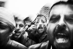 Paolo Pellegrin, Anti-Mubarak demonstrations in Tahrir Square, Cairo, Egypt, 2011.
