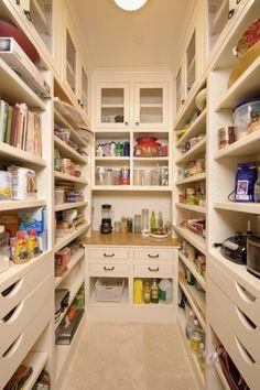 Organisieren Speisekammer regale schubladen idee