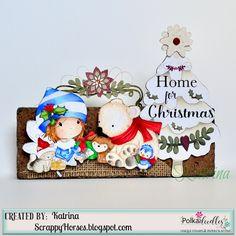 Polkadoodles, Winnie White Christmas, decor, ScrappyHorses, copic