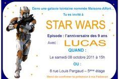 Tuto invitation mode de compatibilit page 7 anniversaire pinterest guerre toiles et - Carte invitation anniversaire star wars ...