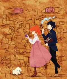 This is: House of Many Ways - It is set in the same world as Howl's Moving Castle and Castle in the Air