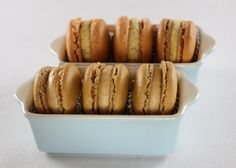 Pumpkin and Salted Caramel Macarons - could these be the right use for the simple syrup I left on the stove and forgot about until it had caramelized?