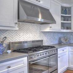 Kitchen with Zinc Countertops