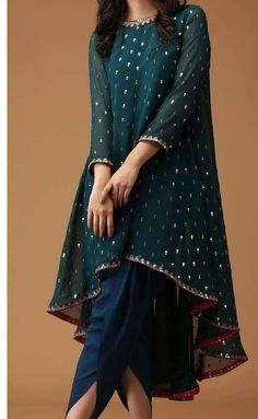 - Indian Satin Dhoti Shalwar Georgette Sequins Embr Kameez suit Ethnic wear dress Source by farhadkhalfey - Pakistani Fashion Party Wear, Pakistani Formal Dresses, Indian Fashion Dresses, Dress Indian Style, Pakistani Dress Design, Indian Gowns, Party Wear Indian Dresses, Shadi Dresses, Indian Suits