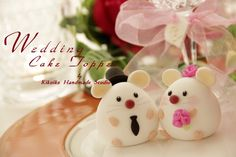 cute mouse and mice Wedding Cake Topper---Casual Collection. $80.00, via Etsy.