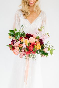Our favorite colors: http://www.stylemepretty.com/2014/06/10/gold-pink-wedding-inspiration/ | Photography: Kerinsa - http://www.kerinsamarie.com/