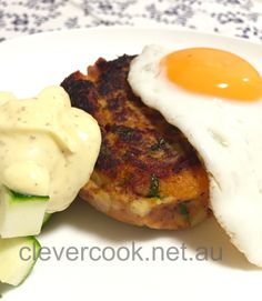Serve with a fried egg and steamed greens