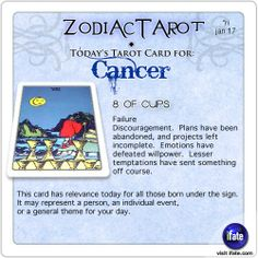 Daily tarot card for Cancer from ZodiacTarot! Check your Cancer horoscope now.  Visit iFate.com today! And for all today's ZodiacTarot cards, check out ZodiacTarot.com !
