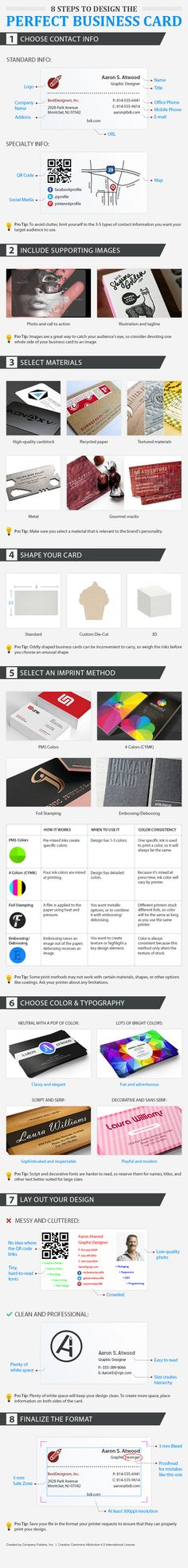 12 Tips To Design The Perfect Business Card #infographic #Business #Design #BusinessCards