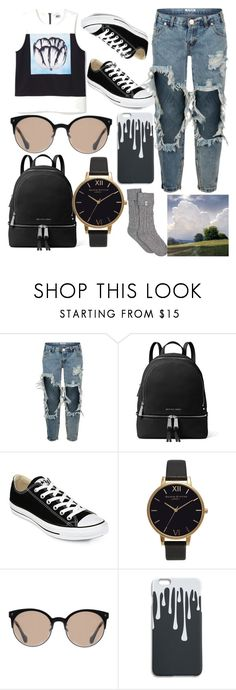 """One Of The Guys"" by azealya ❤ liked on Polyvore featuring OneTeaspoon, MICHAEL Michael Kors, Converse, Olivia Burton, Balenciaga and UGG"
