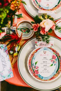 Peranakan-inspired floral wedding stationery | Blast from the Past: A Vintage Singapore Themed Styled Shoot