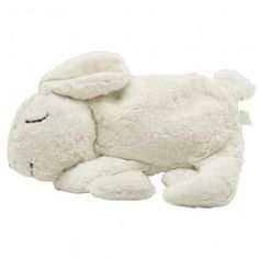 Organic Bunny Rabbit Warming Pillow made in Germany. Filled with natural cherry stones. So soft and cozy!