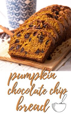 This delicious pumpkin chocolate chip bread is a fall staple recipe! This moist pumpkin bread recipe is rich and tasty with the flavor of pumpkin spice studded with chocolate chips. It is a delicious fall comfort food that is sure to be a family favorite.