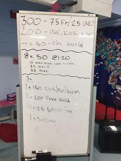 Did the set twice and added 10 of kick by IM. Ended w 2 25 fast free kick. Masters Swim Workouts, Free Kick, Kicks, Swimming, Swim