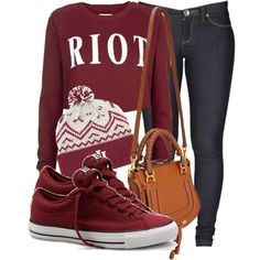RIOT, created by cheerstostyle on Polyvore