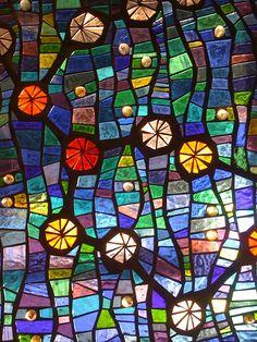 Star Map - engraved mosaic panel by Muna Zuberi