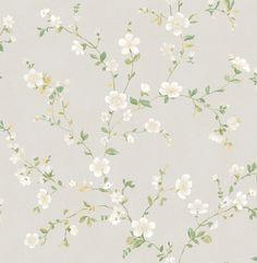 A-Street Prints Delphine White Floral Trail Wallpaper