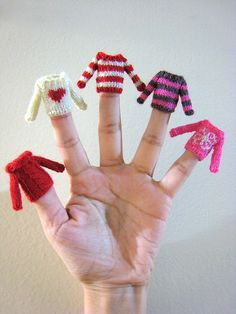 Cute teeny tiny sweater knitting!