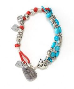 Reflections Turquoise and Metal Bracelet