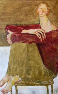 NOT artwork of Amadeo Modigliani! by artist Olivia Pendergast (born in Florida; based in Seattle, WA) aka Holly Mae (Holly is her initial name). Artist was long time inspired by Modigliani work.
