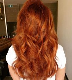 redhead + red long hair / #hairstyles #beauty #fashion