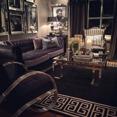 Beautiful Living Rooms, Cozy Living Rooms, My Living Room, Home And Living, Living Room Decor, Living Spaces, T Home, White Rooms, Luxury Home Decor