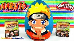 Huevo Sorpresa Gigante de Naruto de Plastilina Play Doh en Español Sorpr...