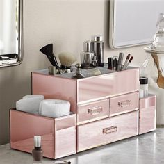 Free Shipping. Buy OnDisplay Amara 3 Drawer Tiered Rose Gold Mirrored Makeup/Jewelry Organizer at Walmart.com