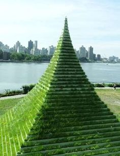 New York–based artist and environmentalist Agnes Denes created the 30-foot-high The Living Pyramid f... - Photo: Courtesy of Socrates Sculpture Park