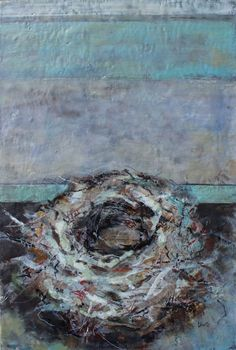 """Part of my encaustic nests painting series. Please visit my website to learn more about my artwork. 36"""" x 24"""" India Ink, Nests, Contemporary Paintings, Fine Art, Website, Artist, Artwork, Work Of Art, Auguste Rodin Artwork"""