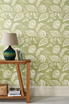 Buy Artisan Floral Green Wallpaper from the Next UK online shop